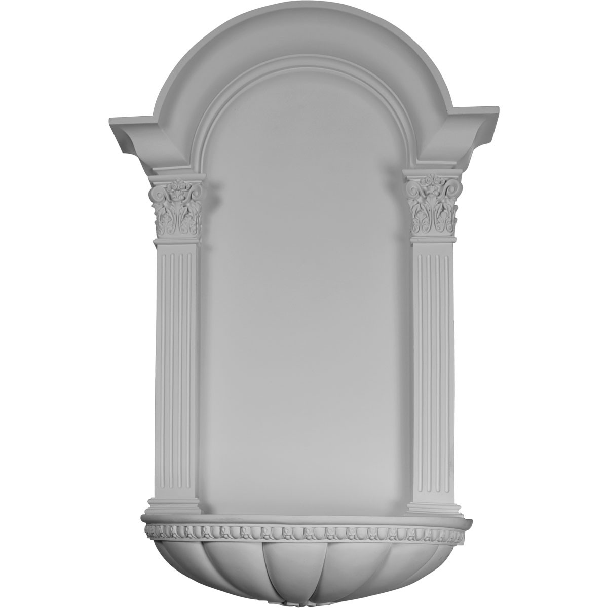 """EM-NCH27X42EG - 27 1/2""""W x 42 1/4""""H x 9""""D, Egg and Dart Fluted Niche, Surface Mount"""