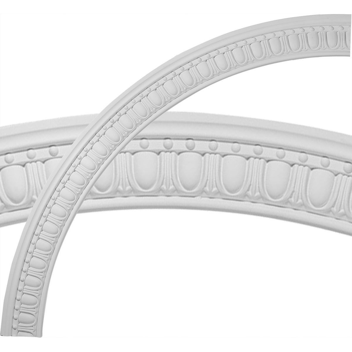 """EM-CR59AR - 59""""OD x 51 3/4""""ID x 3 5/8""""W x 1""""P Artis Egg and Dart Ceiling Ring (1/4 of complete circle)"""