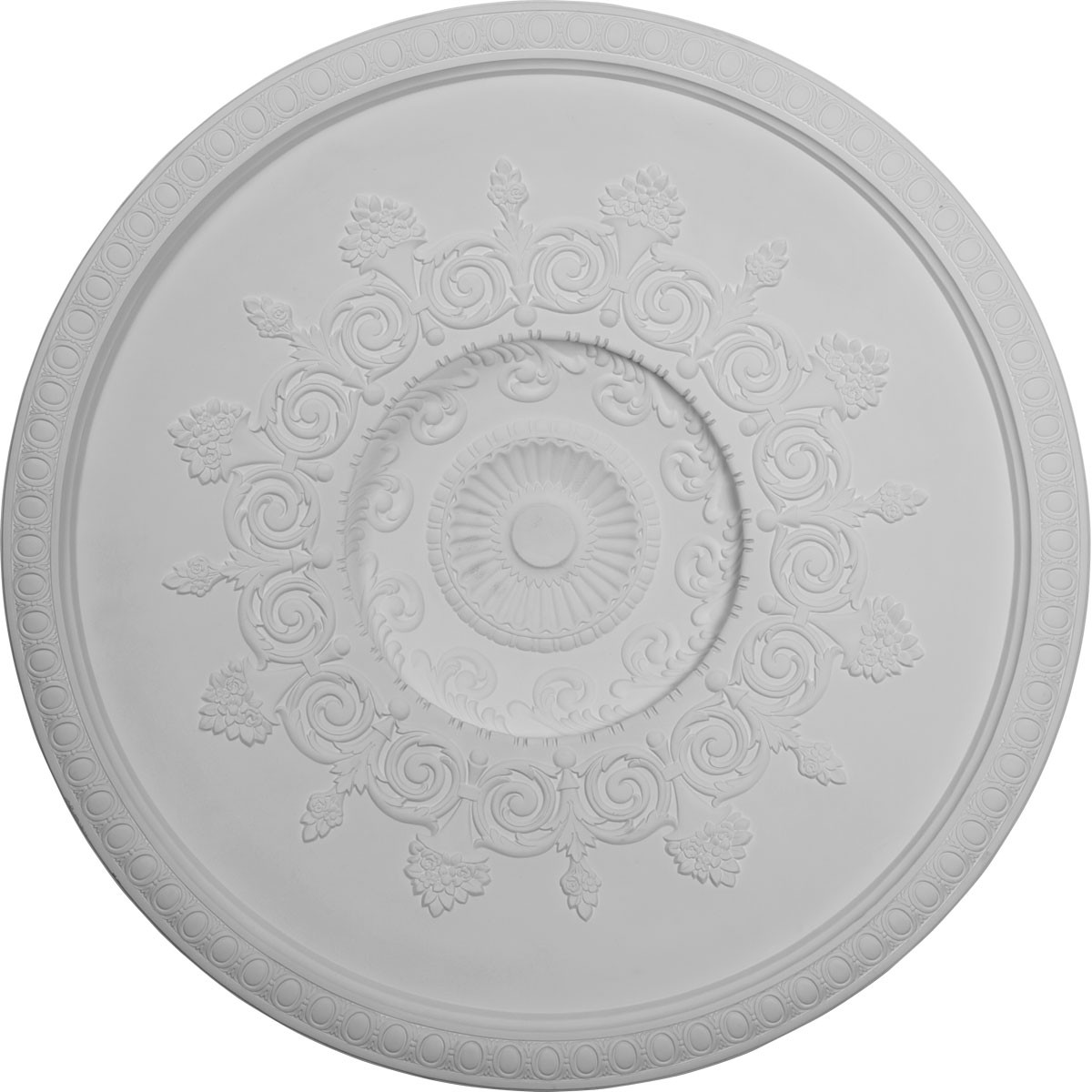 "EM-DOME47AN - 47 1/2""OD x 41 3/4""ID x 8 5/8""D, Andrea Ceiling Dome, 2 7/8""W Trim (41 3/8"" Diameter x 7""D  Rough Opening)"