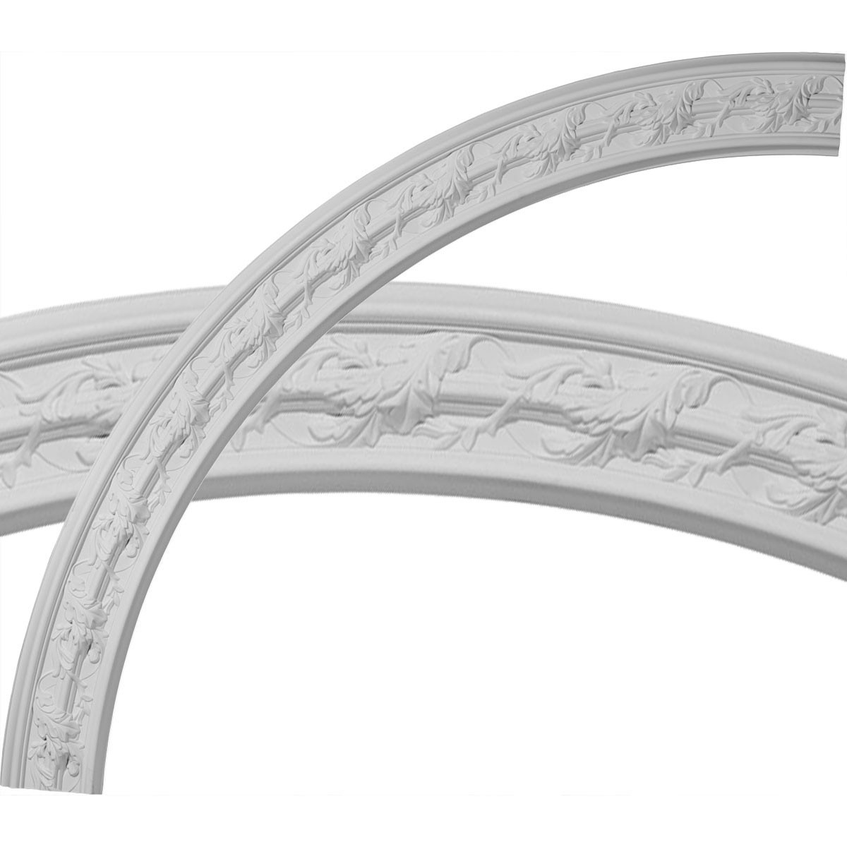 """EM-CR67SO - 66 3/4""""OD x 58""""ID x 4 3/8""""W x 1""""P Southampton Acanthus Leaf Ceiling Ring (1/4 of complete circle)"""