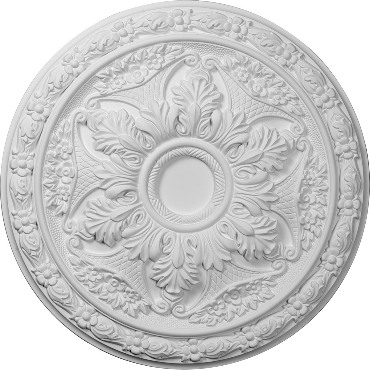 "EM-CM20BL - 20""OD x 1 5/8""P Baile Ceiling Medallion (Fits Canopies up to 3 1/4"")"