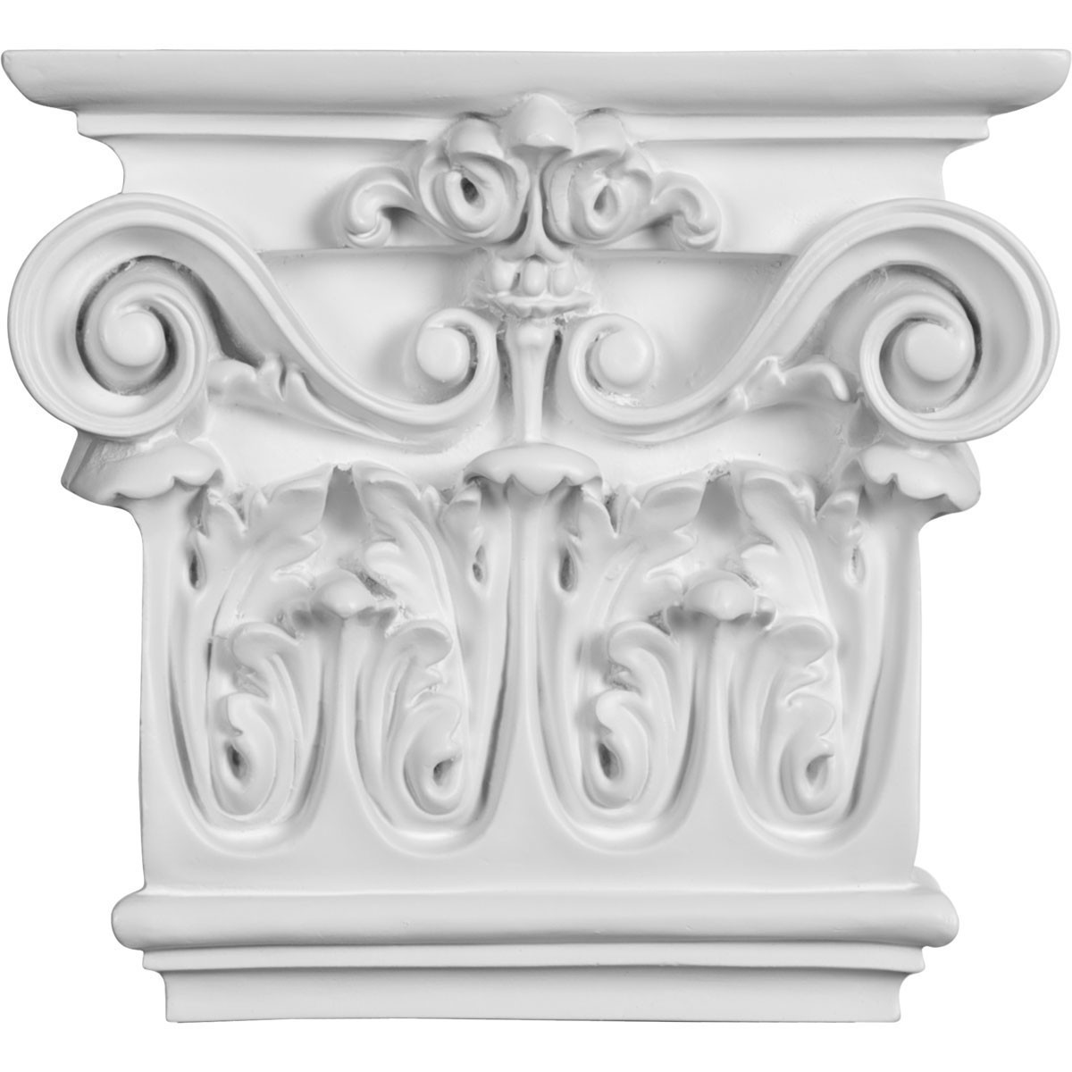 """EM-CAP09X07X03AR - 7 1/2""""W x 8 5/8""""H x 2 1/2""""P Artis Onlay Capital (Fits Pilasters up to 5 1/4""""W x 1/2""""D)"""