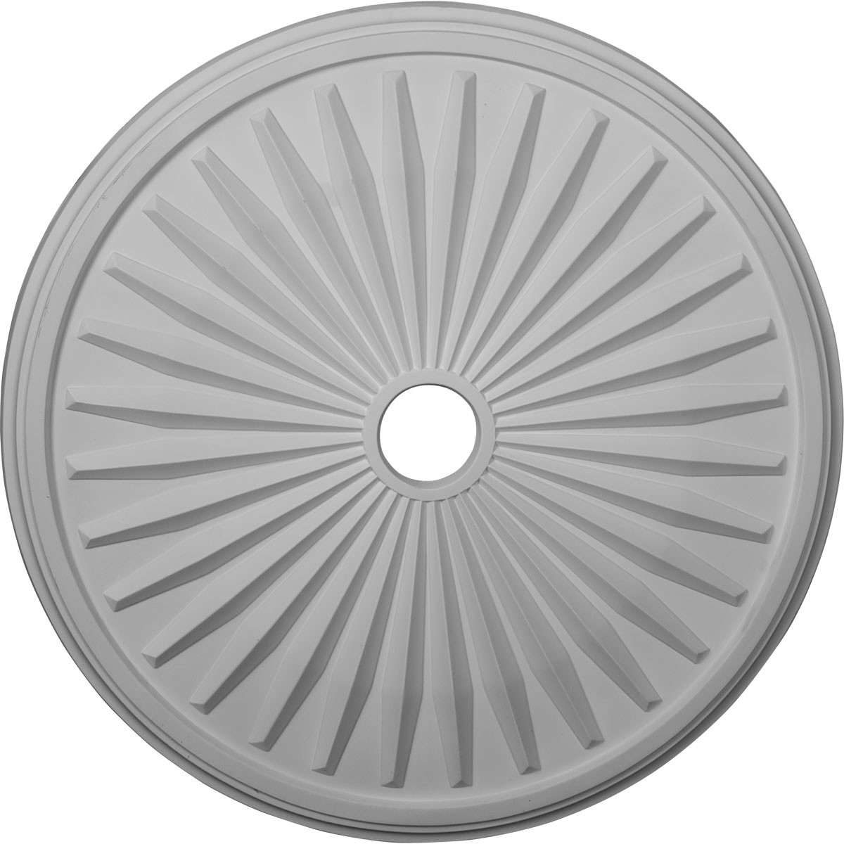 """EM-CM33LE - 33 1/8""""OD x 3 1/2""""ID x 1 3/8""""P Leandros Ceiling Medallion (Fits Canopies up to 5"""")"""