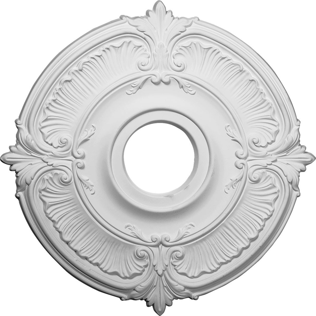 """EM-CM18AT - 18""""OD x 4""""ID x 5/8""""P Attica Ceiling Medallion (Fits Canopies up to 5"""")"""