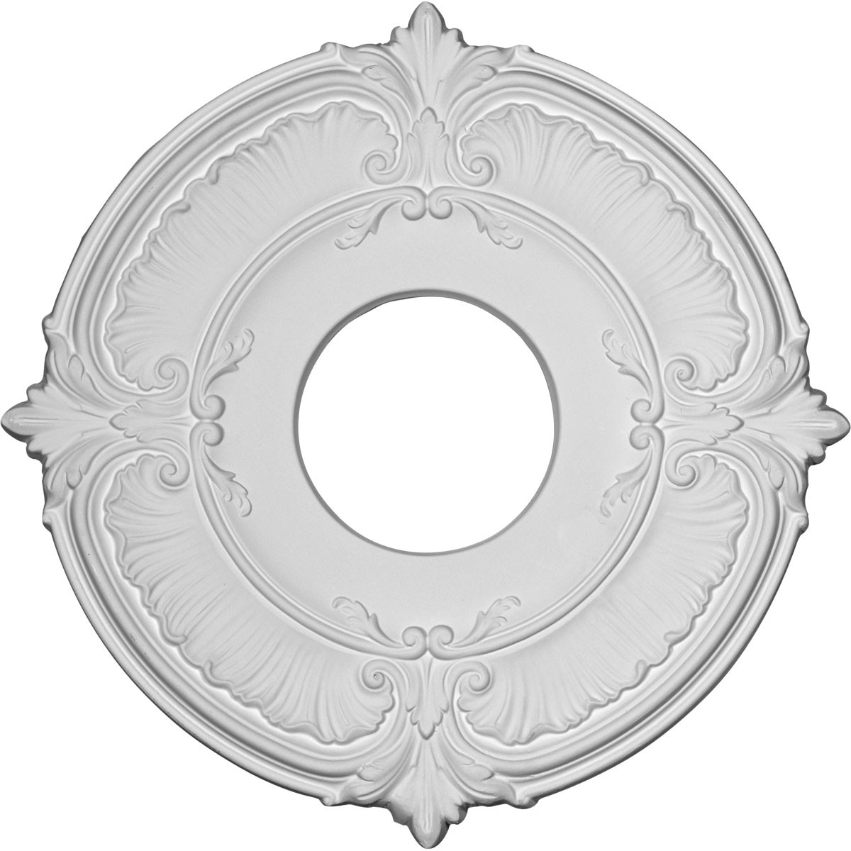 """EM-CM12AT - 12 3/4""""OD x 3 1/2""""ID x 1/2""""P Attica Ceiling Medallion (Fits Canopies up to 3 1/2"""")"""