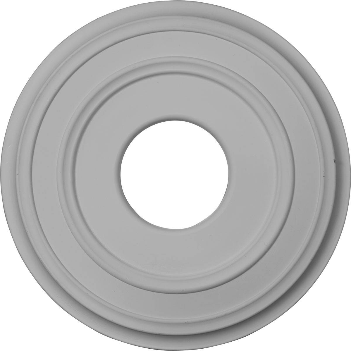 "EM-CM12CL - 12 3/8""OD x 4""ID x 1 1/8""P Classic Ceiling Medallion (Fits Canopies up to 7 1/4"")"