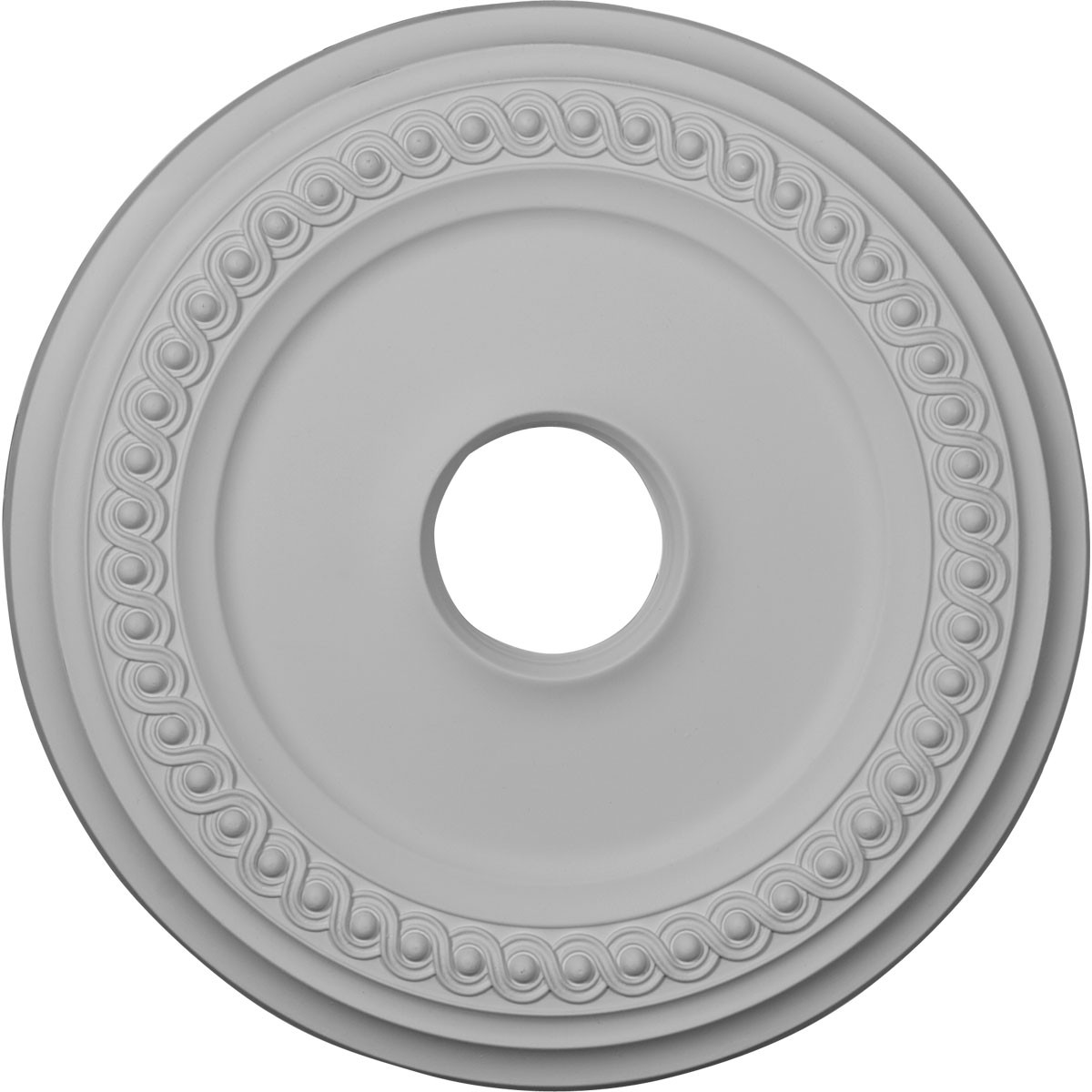 "EM-CM19CL - 18 5/8""OD 4""ID x 1 1/8""P Classic Ceiling Medallion (Fits Canopies up to 12 3/4"")"