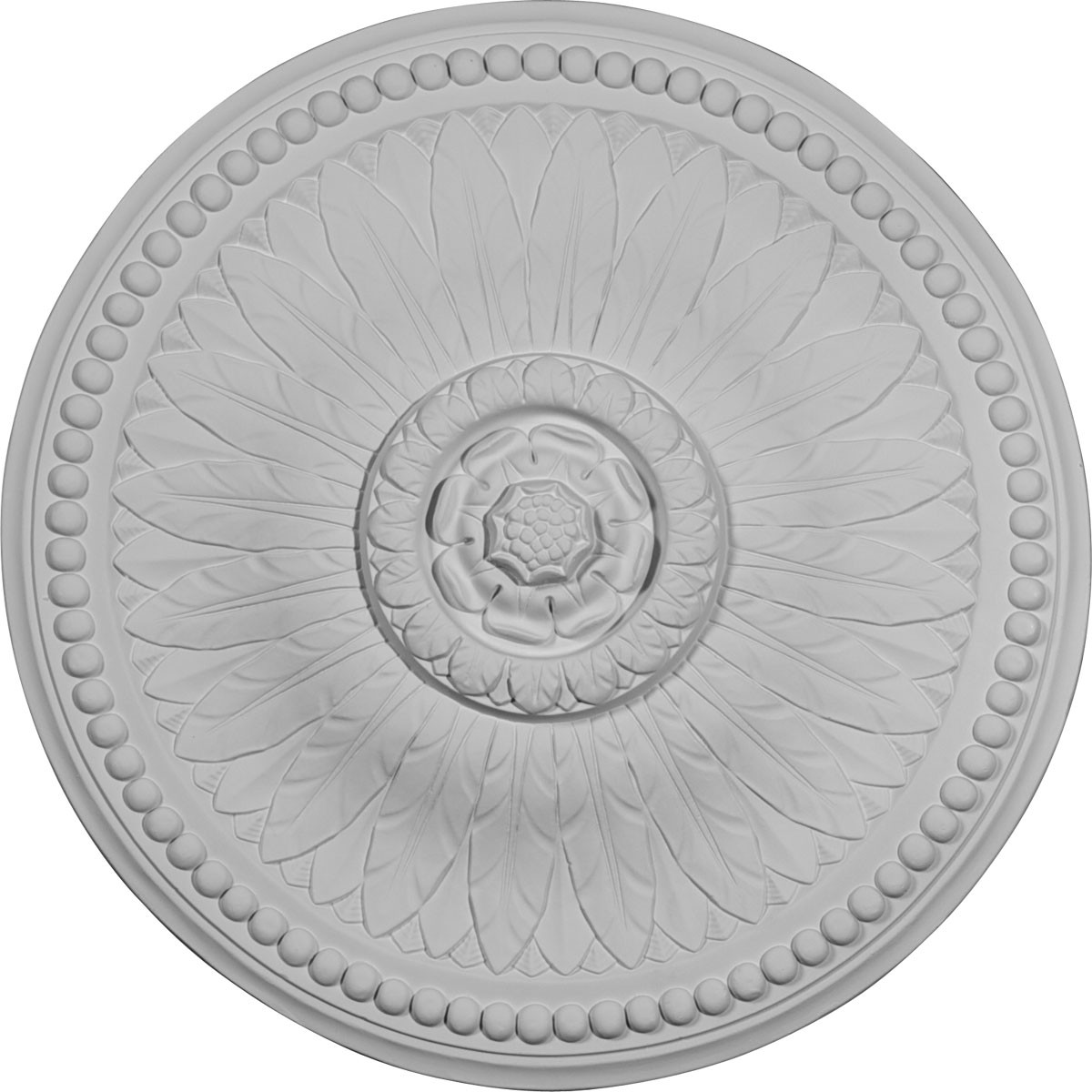 """EM-CM19BI - 18 1/8""""OD x 3/4""""P Bailey Ceiling Medallion (Fits Canopies up to 4"""")"""