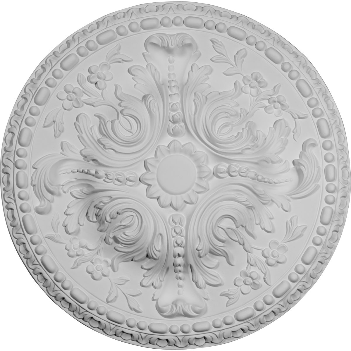 """EM-CM20AM - 19 5/8""""OD x 3/4""""P Amelia Ceiling Medallion (Fits Canopies up to 2 3/8"""")"""