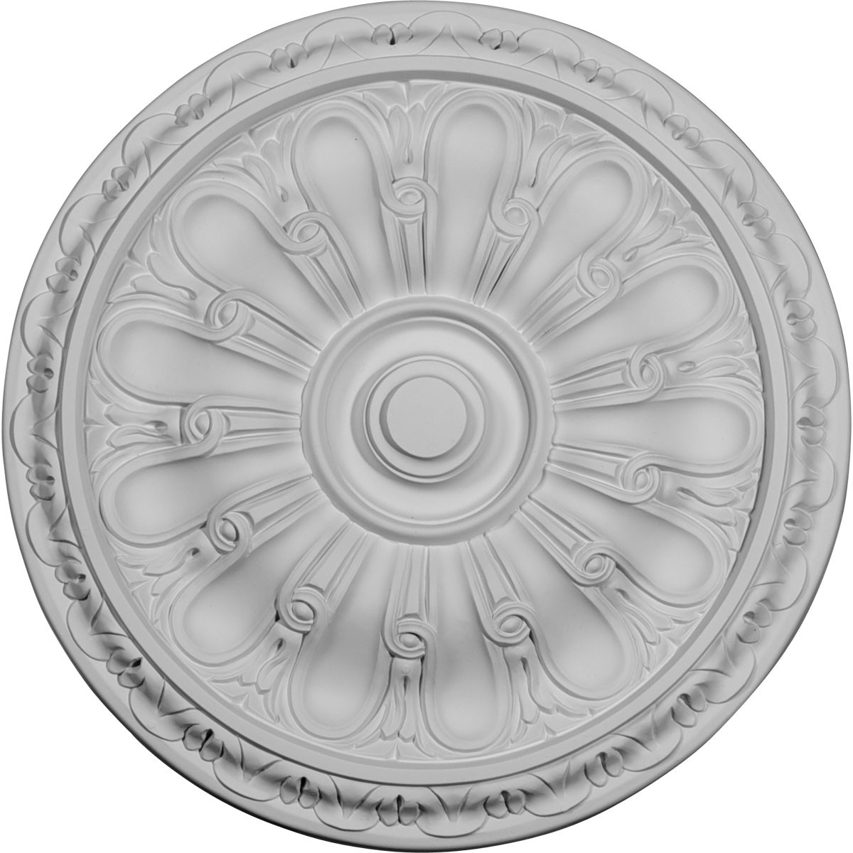 "EM-CM16KI - 15 3/4""OD x 5/8""P Kirke Ceiling Medallion (Fits Canopies up to 3 3/4"")"