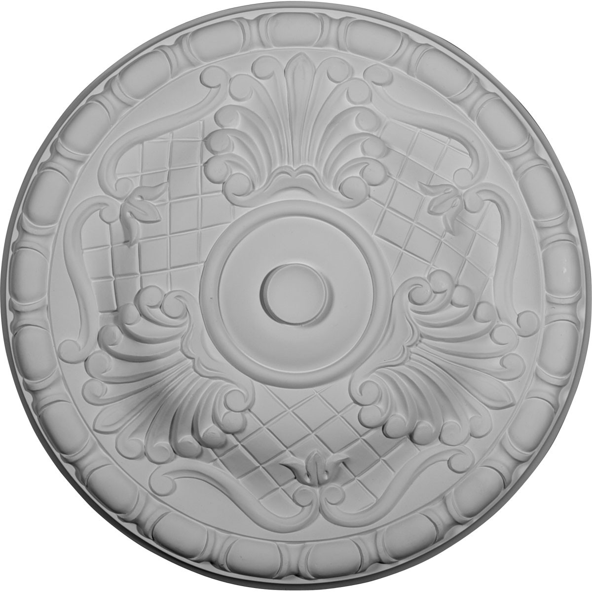 """EM-CM16AM - 15 3/4""""OD x 5/8""""P Amelia Ceiling Medallion (Fits Canopies up to 4 1/8"""")"""
