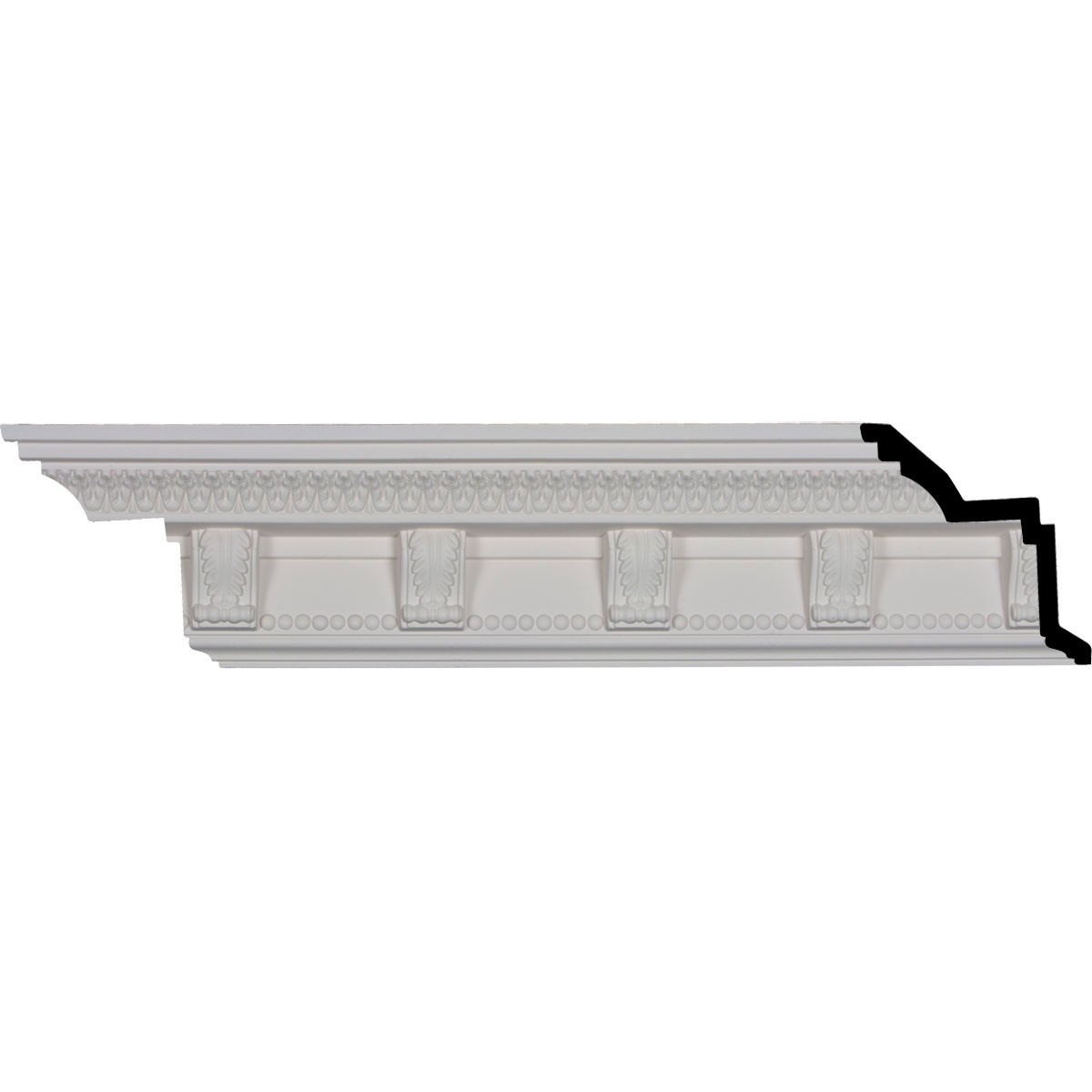 "EM-MLD04X04X06MC - 4 7/8""H x 4 1/4""P x 6 1/2""F x 96 1/8""L, (4 3/4"" Repeat), Marcus Crown Moulding"