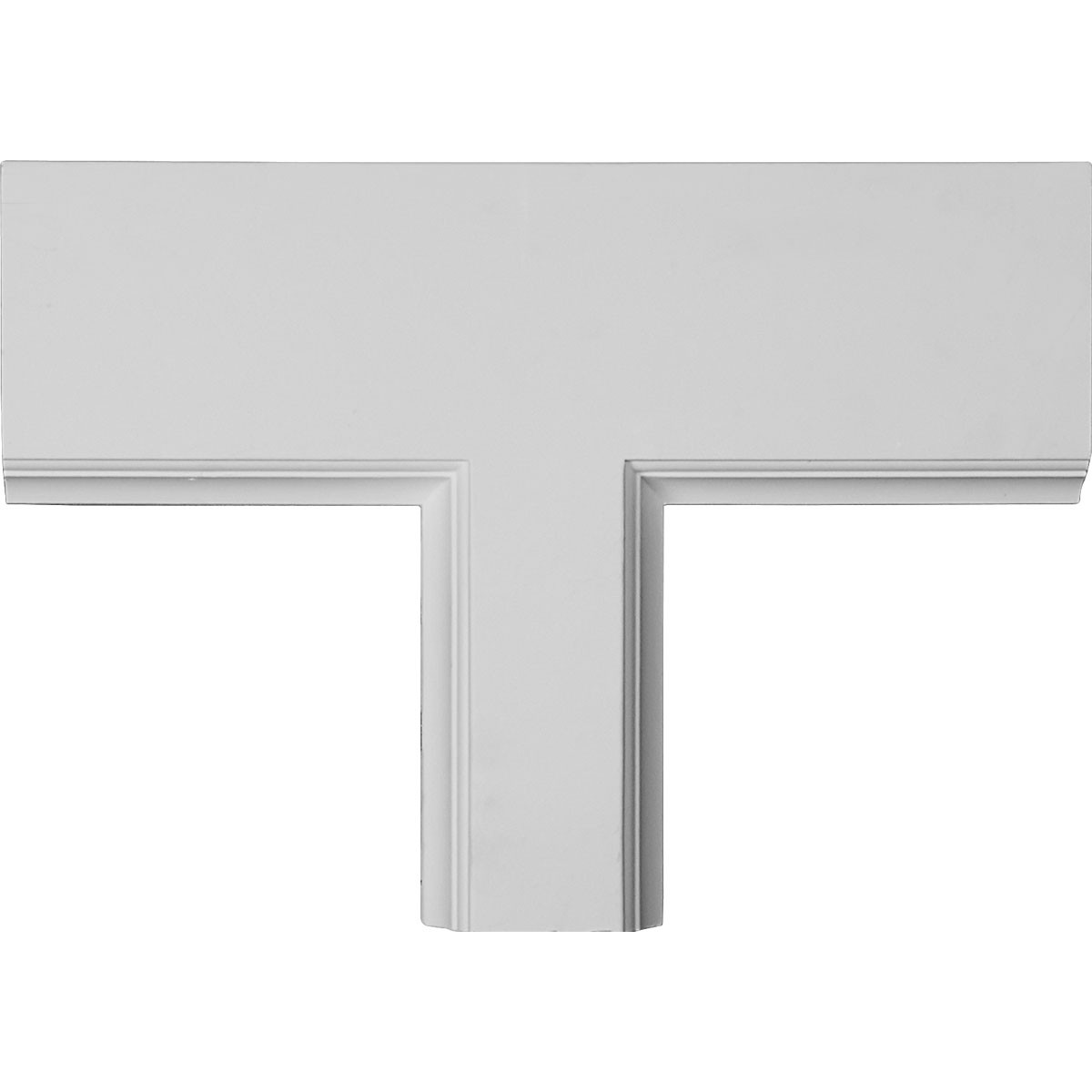 """EM-CC05PTE02X14X20TR - 14""""W x 2""""P x 20""""L Perimeter Tee for 5"""" Traditional Coffered Ceiling System"""