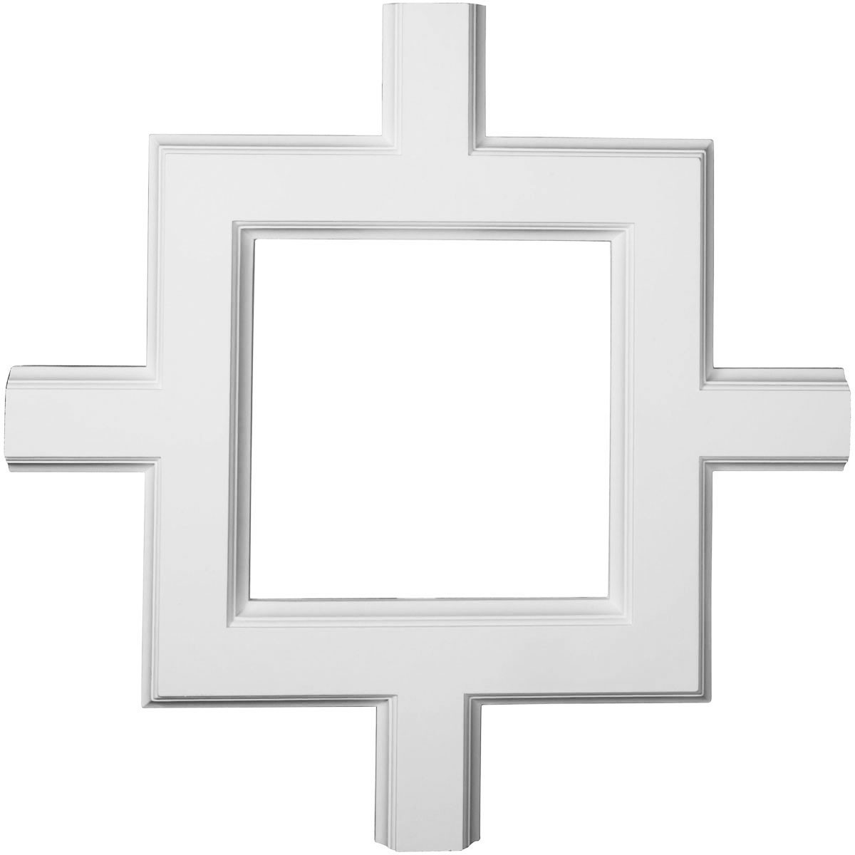 "EM-CC05ISI02X36X36TR - 36""W x 2""P x 36""L Inner Square Intersection for 5"" Traditional Coffered Ceiling System"