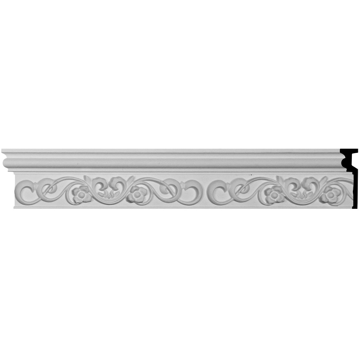 "EM-CHA04X01FA - 3 3/4""H x 1 1/8""P x 94 1/2""L Fairmont Chair Rail"