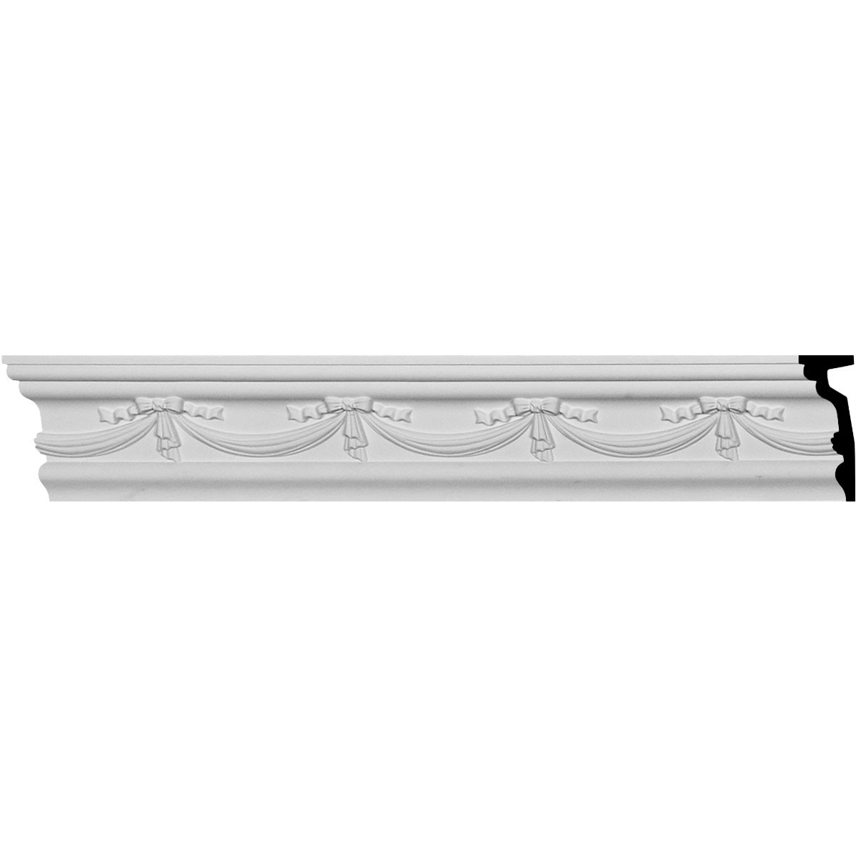 "EM-CHA05X02FE - 4 1/2""H x 1 3/4""P x 94 1/2""L Federal Chair Rail"