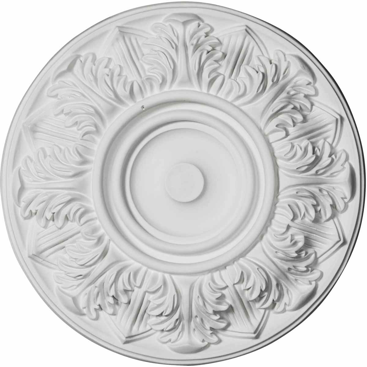"""EM-CM13WH - 13""""OD x 1 3/8""""P Whitman Ceiling Medallion (For Canopies up to 3 3/4"""")"""