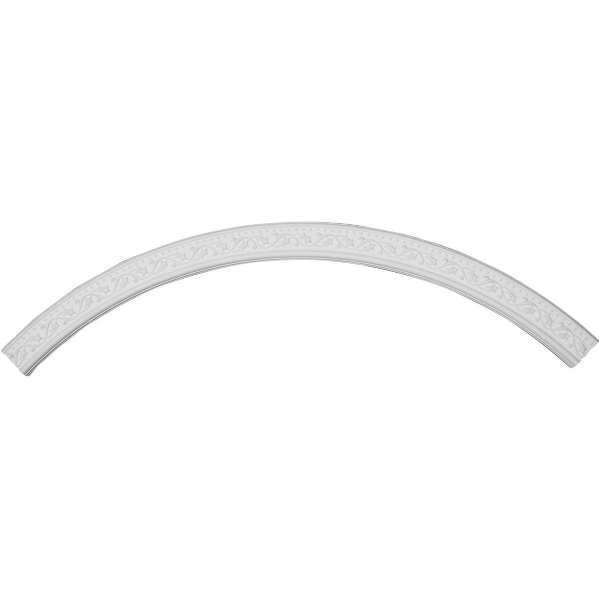 """EM-CR87MA - 86 5/8""""OD x 78 3/4""""ID x 4""""W x 7/8""""P Marcella Ceiling Ring (1/4 of complete circle)"""