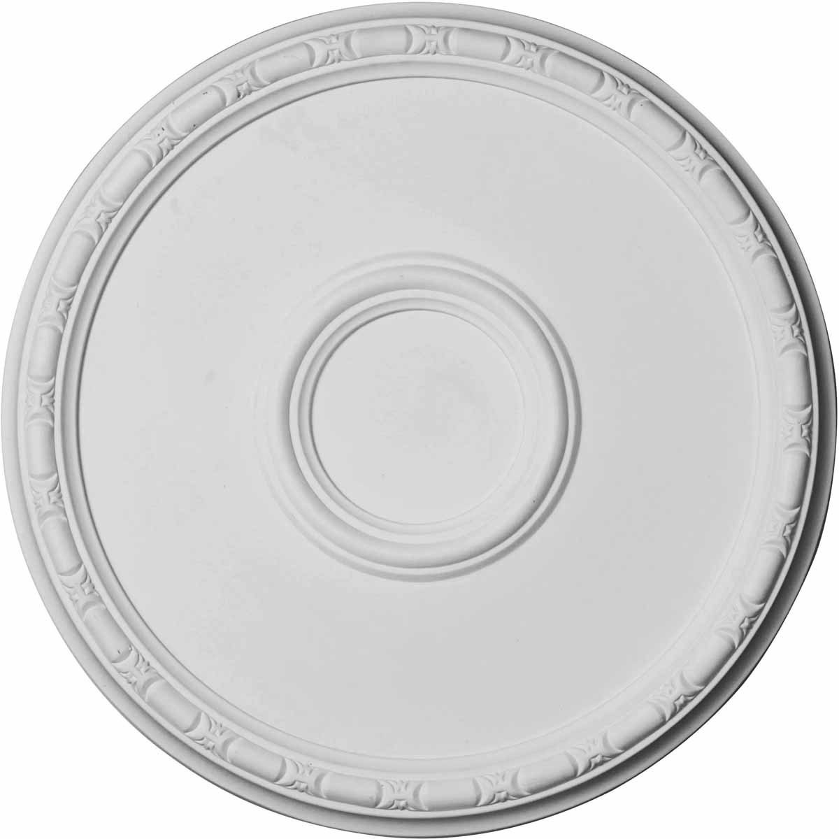 """EM-CM20OD - 19 3/4""""OD x 1 3/8""""P Odessa Bead & Barrel Ceiling Medallion (Fits Canopies up to 5"""")"""