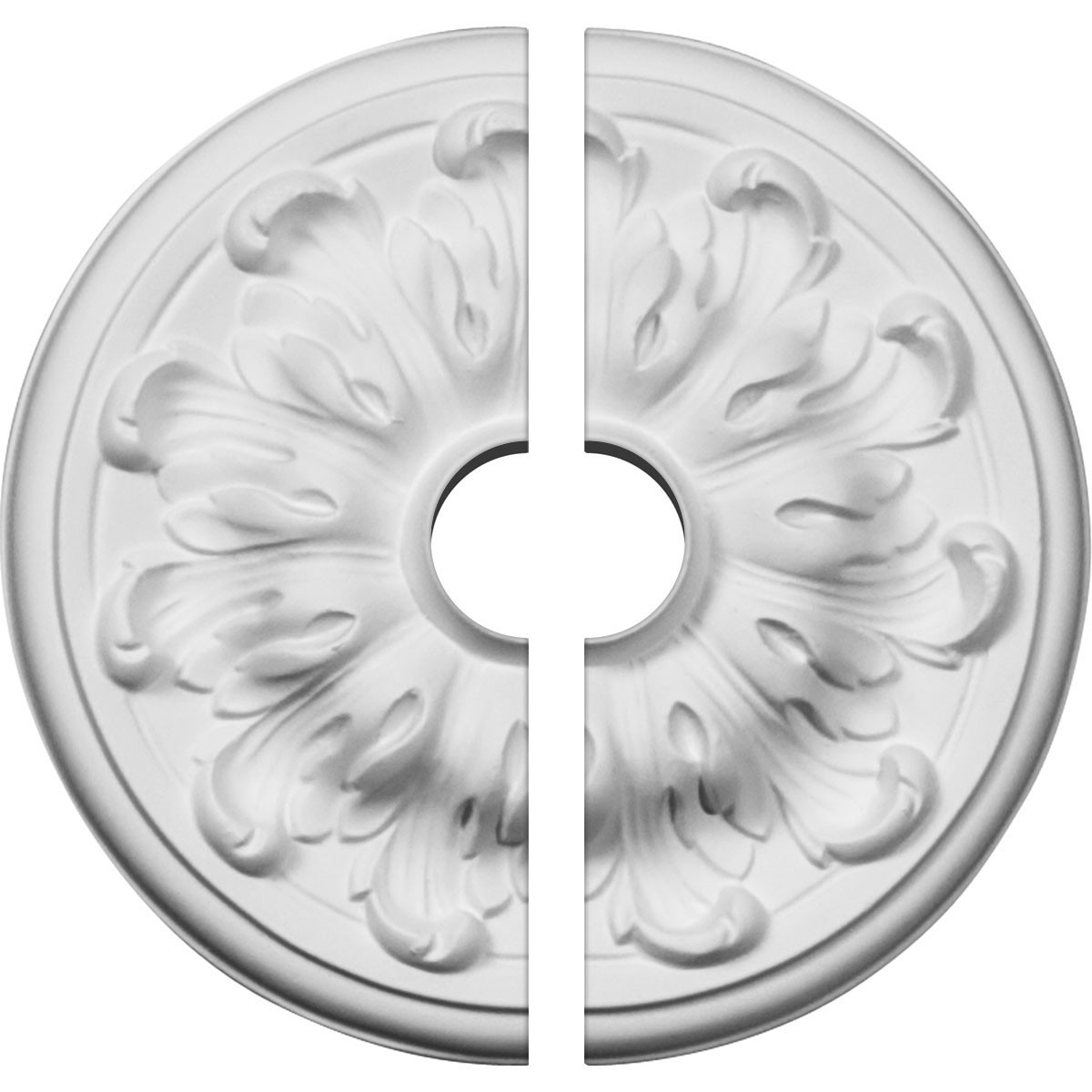 "EM-CM08MU2-01500 - 7 7/8""OD x 1 1/2""ID x 1/4""P Millin Ceiling Medallion, Two Piece (Fits Canopies up to 2"")"