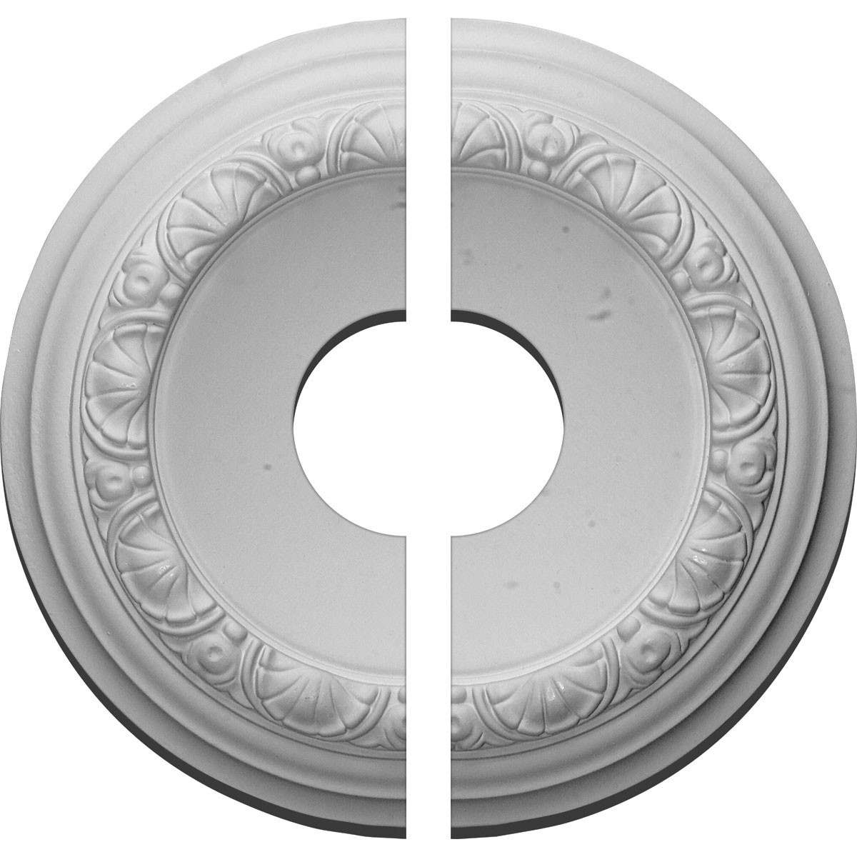 """EM-CM12CA2-03500 - 12 1/2""""OD x 3 1/2""""ID x 1 1/2""""P Carlsbad Ceiling Medallion, Two Piece (Fits Canopies up to 7 7/8"""")"""