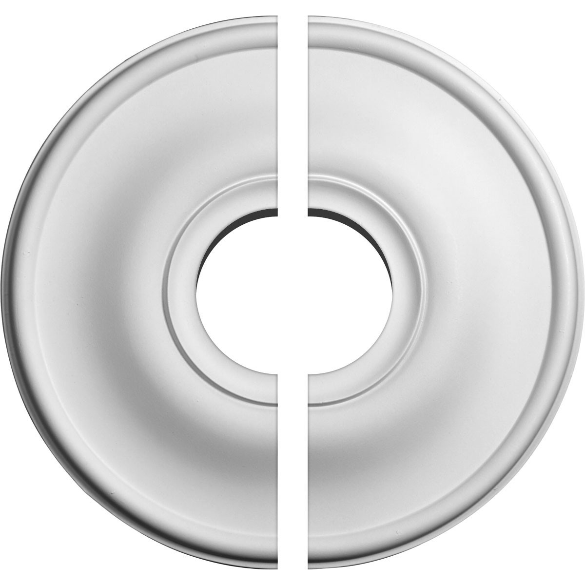 "EM-CM12JE2-03500 - 11 3/4""OD x 3 1/2""ID x 3/8""P Jefferson Ceiling Medallion, Two Piece (Fits Canopies up to 3 1/2"")"
