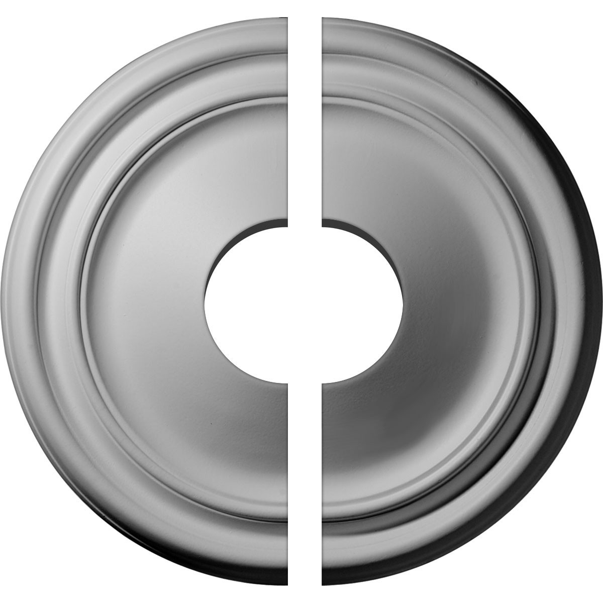 """EM-CM12RE2-03500 - 12""""OD x 3 1/2""""ID x 1 3/4""""P Reece Ceiling Medallion, Two Piece (Fits Canopies up to 3 1/2"""")"""