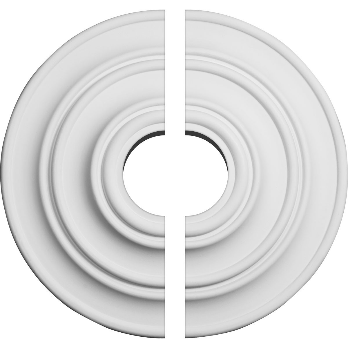 """EM-CM13CL2-03500 - 13 1/4""""OD x 3 1/2""""ID x 1/2""""P Classic Ceiling Medallion, Two Piece (Fits Canopies up to 4 1/8"""")"""