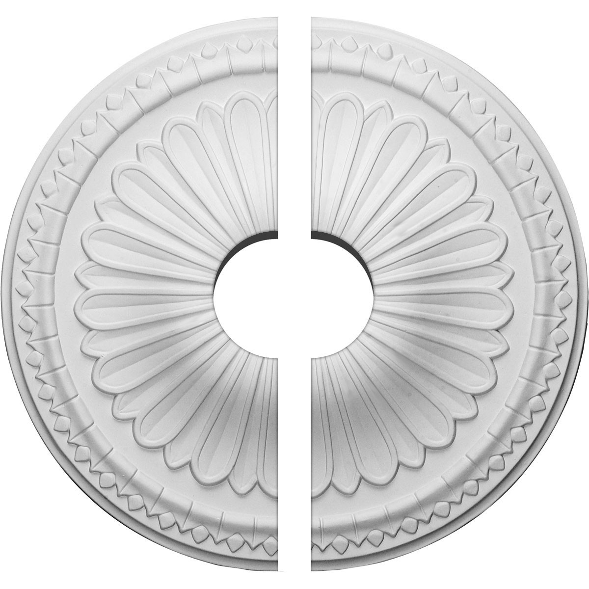"""EM-CM14AX2-03500 - 15""""OD x 3 1/2""""ID x 1 3/4""""P Alexa Ceiling Medallion, Two Piece (Fits Canopies up to 3 1/2"""")"""
