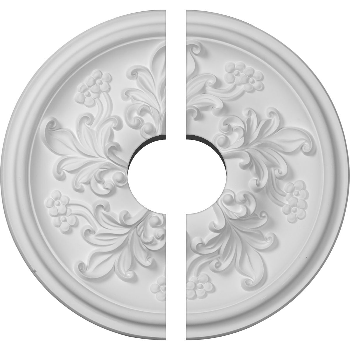 """EM-CM14KT2-03500 - 14 1/2""""OD x 3 1/2""""ID x 2 3/4""""P Katheryn Ceiling Medallion, Two Piece (Fits Canopies up to 3 1/2"""")"""