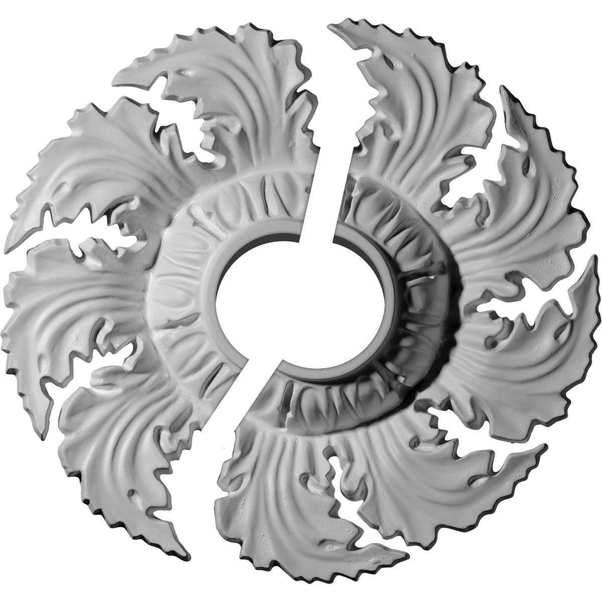 "EM-CM14NE2-03500 - 14 5/8""OD x 3 1/2""ID x 2 1/4""P Needham Ceiling Medallion, Two Piece (Fits Canopies up to 4 1/4"")"
