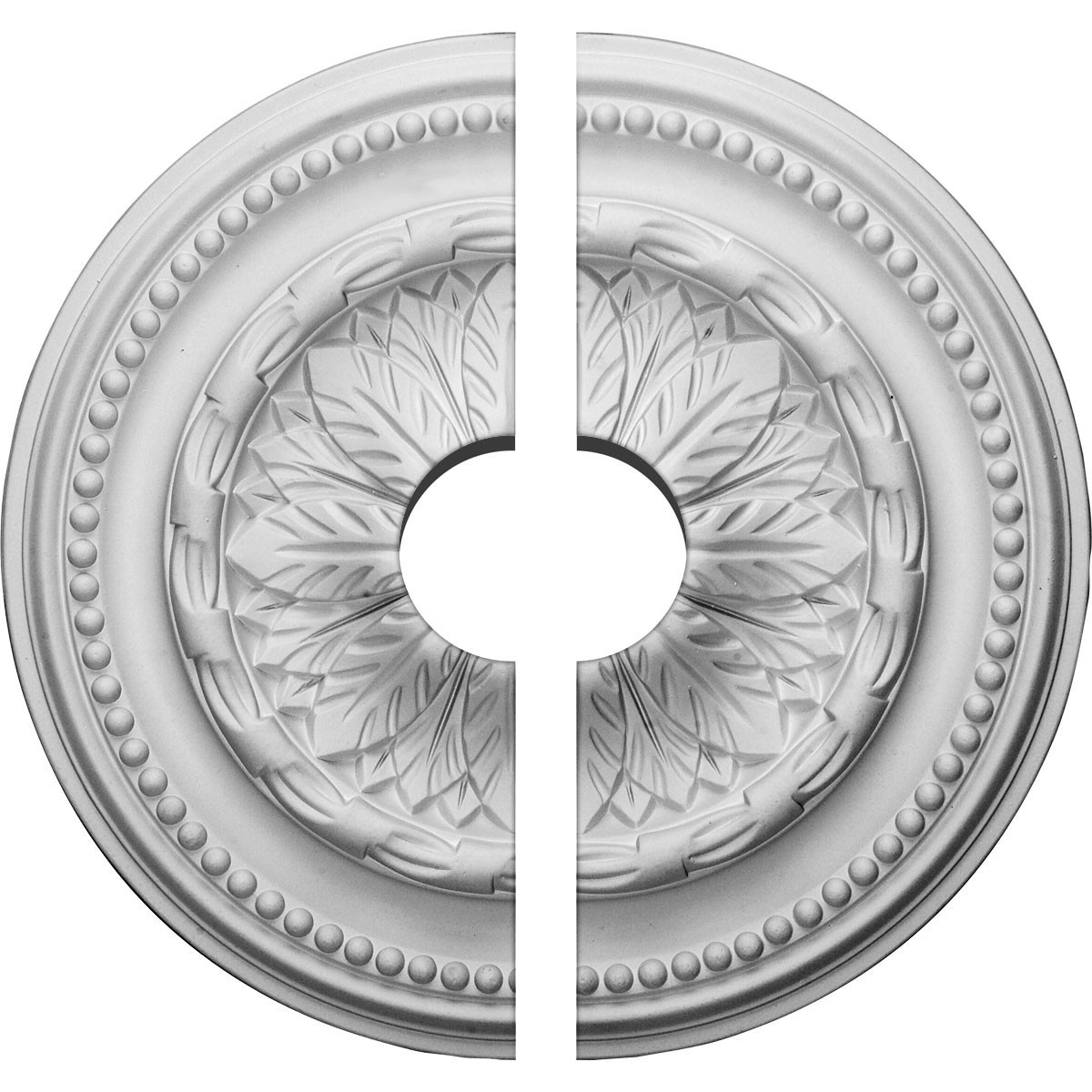 "EM-CM15CH2-03500 - 15 3/4""OD x 3 1/2""ID x 1 7/8""P Chester Ceiling Medallion, Two Piece (Fits Canopies up to 3 1/2"")"