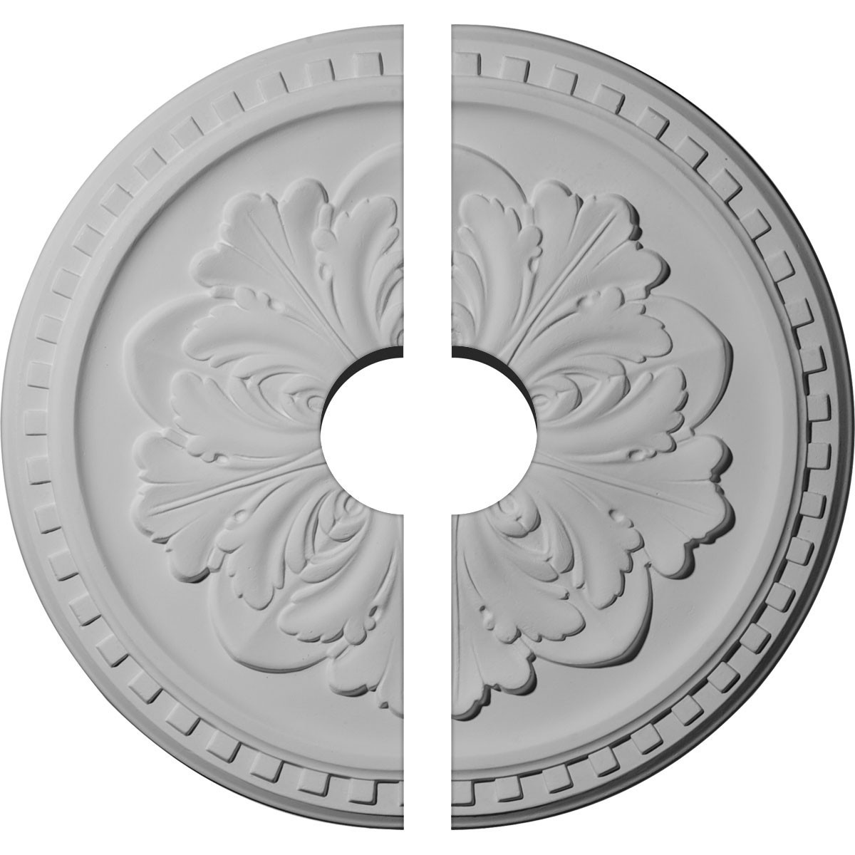 """EM-CM16ER2-03500 - 16 7/8""""OD x 3 1/2""""ID x 5/8""""P Emeryville Ceiling Medallion, Two Piece (Fits Canopies up to 3 1/2"""")"""