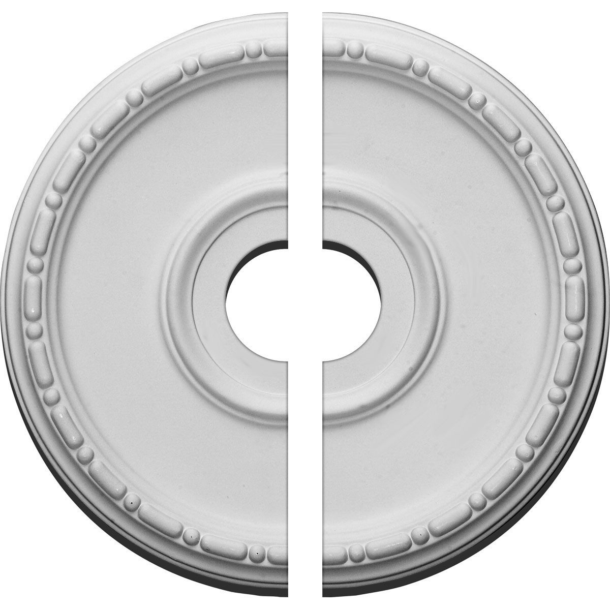 "EM-CM16MD2-03500 - 16 1/2""OD x 3 1/2""ID x 1 1/2""P Medea Ceiling Medallion, Two Piece (Fits Canopies up to 5 1/2"")"