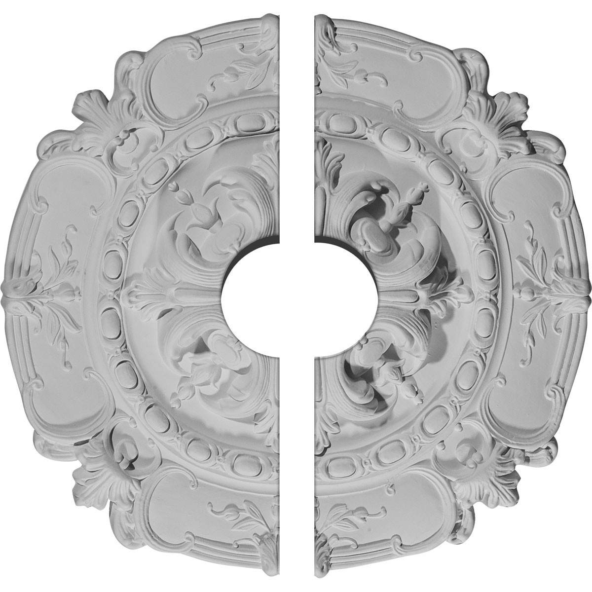 """EM-CM16SO2-03500 - 16 1/2""""OD x 3 1/2""""ID x 2 3/8""""P Southampton Ceiling Medallion, Two Piece (Fits Canopies up to 3 1/2"""")"""