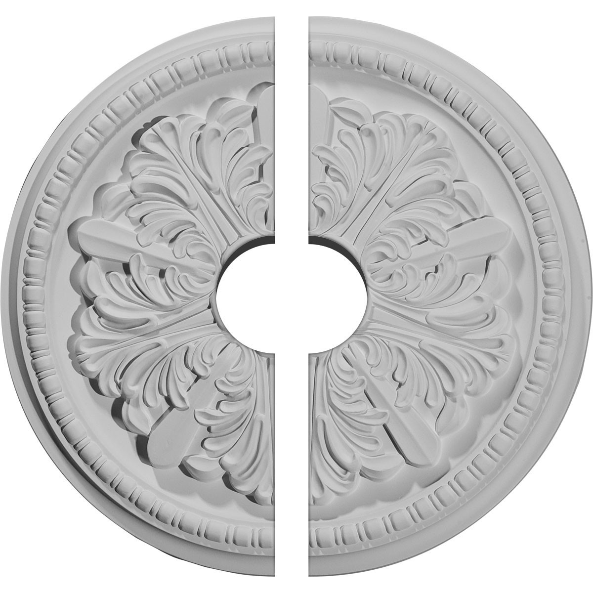 "EM-CM16SW2-03500 - 16 7/8""OD x 3 1/2""ID x 1 1/2""P Swindon Ceiling Medallion, Two Piece (Fits Canopies up to 3 1/2"")"