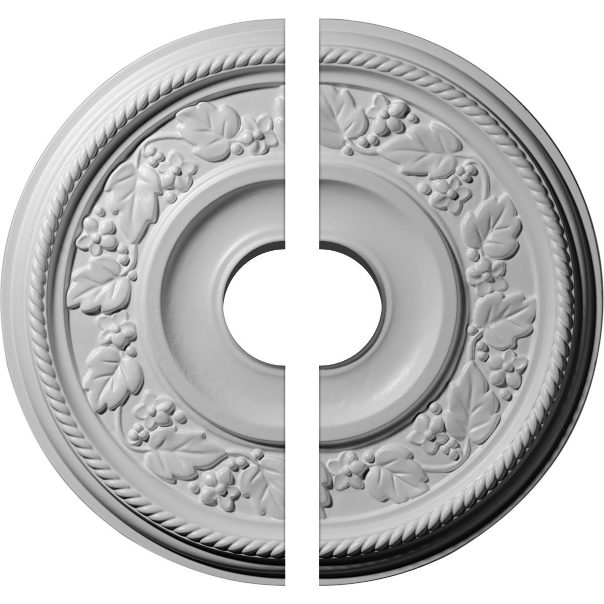 """EM-CM16TY2-03500 - 16 1/8""""OD x 3 1/2""""ID x 3/4""""P Tyrone Ceiling Medallion, Two Piece (Fits Canopies up to 6 3/4"""")"""