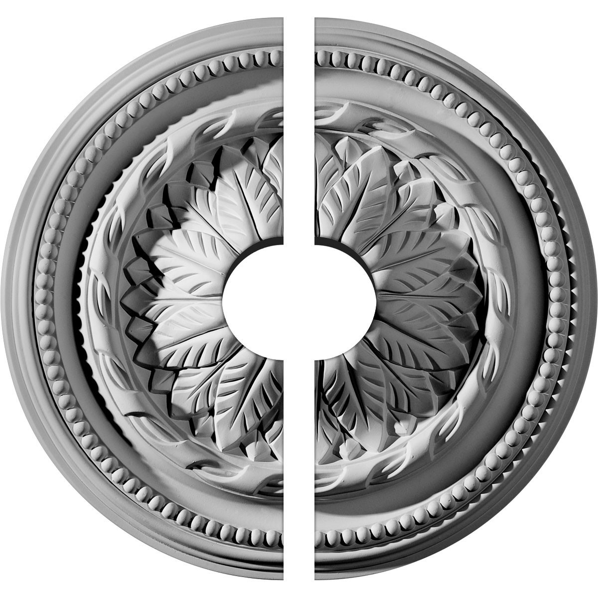 """EM-CM16WG2-03500 - 16""""OD x 3 1/2""""ID x 2 1/4""""P Wigan Ceiling Medallion, Two Piece (Fits Canopies up to 3 1/2"""")"""