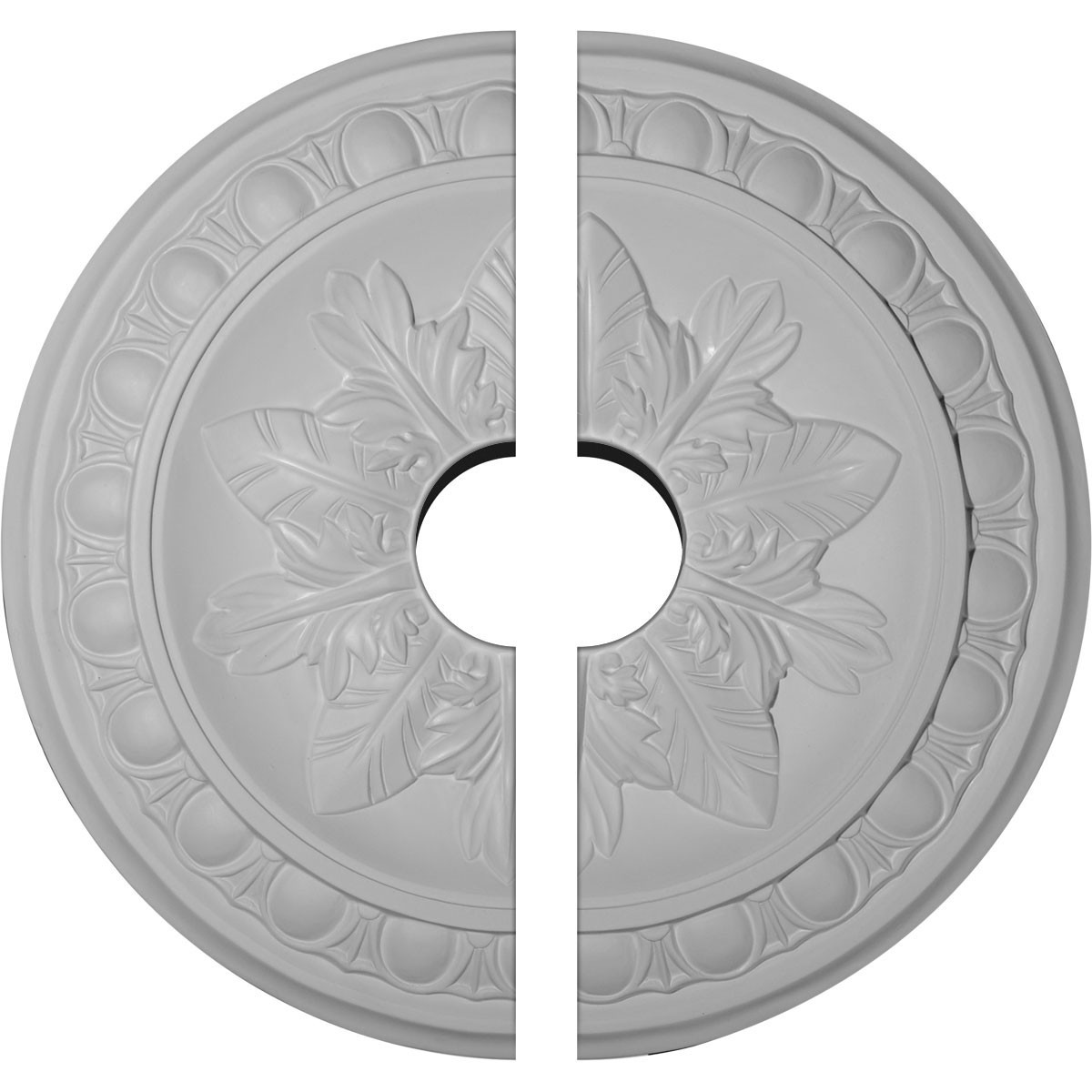 "EM-CM17EX2-03500 - 17 3/4""OD x 3 1/2""ID x 1 1/8""P Exeter Ceiling Medallion, Two Piece (Fits Canopies up to 3 1/2"")"