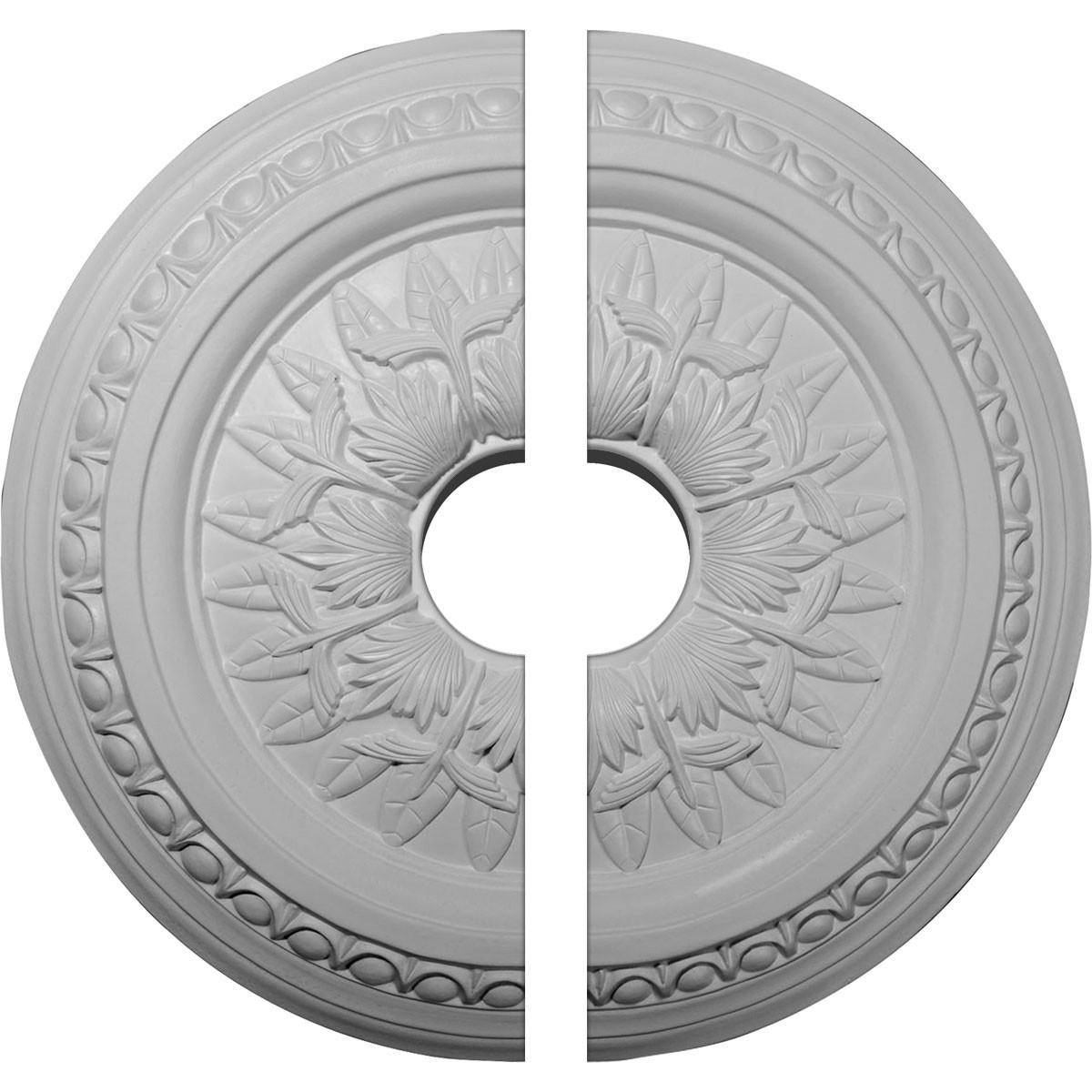 "EM-CM17TE2-03500 - 17 3/4""OD x 3 1/2""ID x 1 1/2""P Telford Ceiling Medallion, Two Piece (Fits Canopies up to 3 3/4"")"