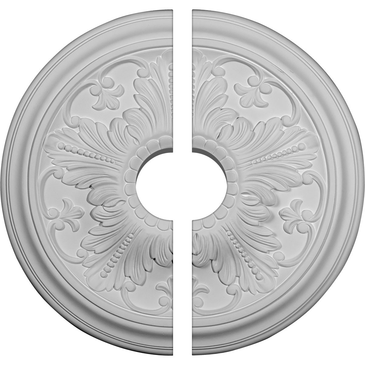 """EM-CM17VI2-03500 - 16 7/8""""OD x 3 1/2""""ID x 5/8""""P Vienna Ceiling Medallion, Two Piece (Fits Canopies up to 3 1/2"""")"""