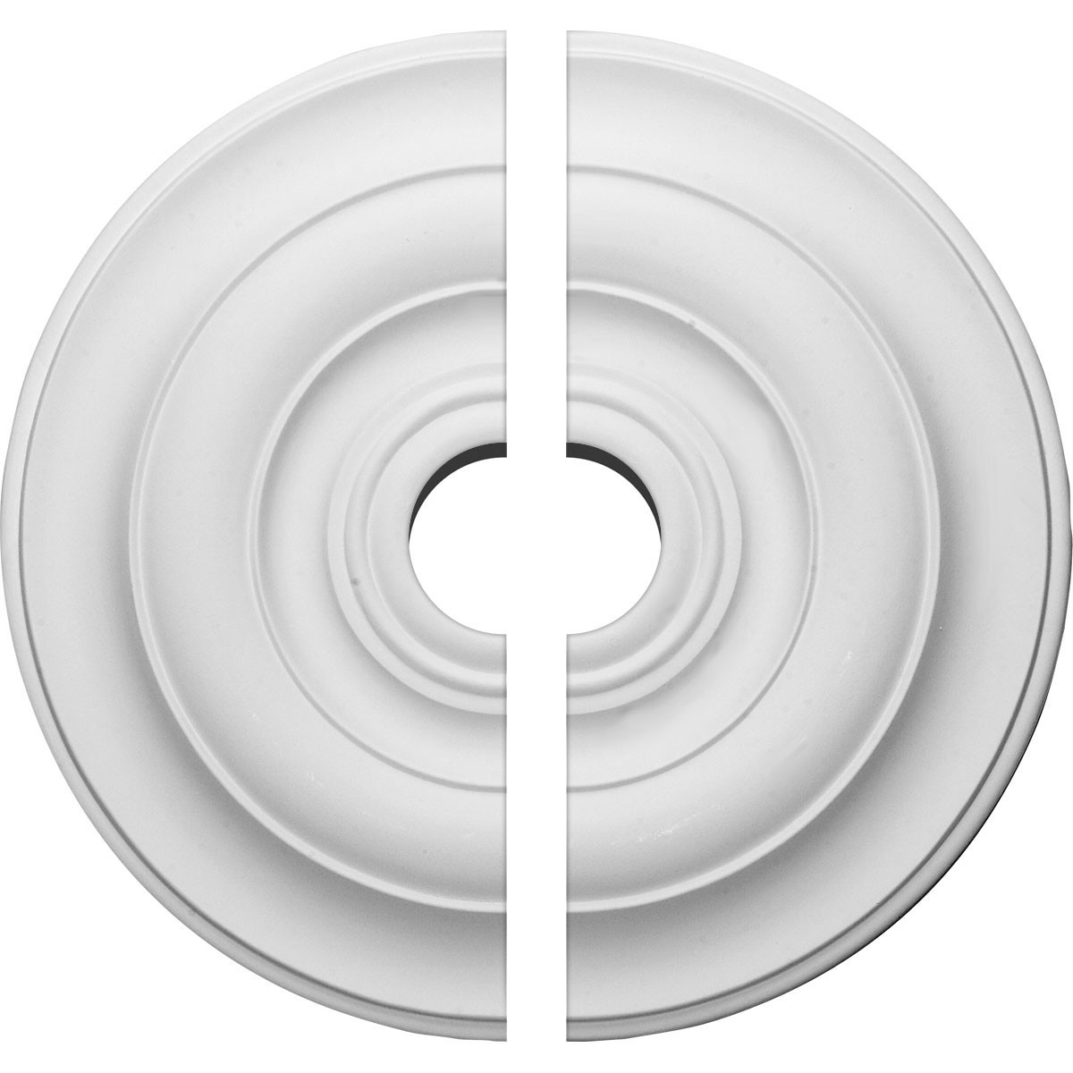 "EM-CM18NI2-03500 - 18""OD x 3 1/2""ID x 1 1/2""P Niobe Ceiling Medallion, Two Piece (Fits Canopies up to 8 5/8"")"