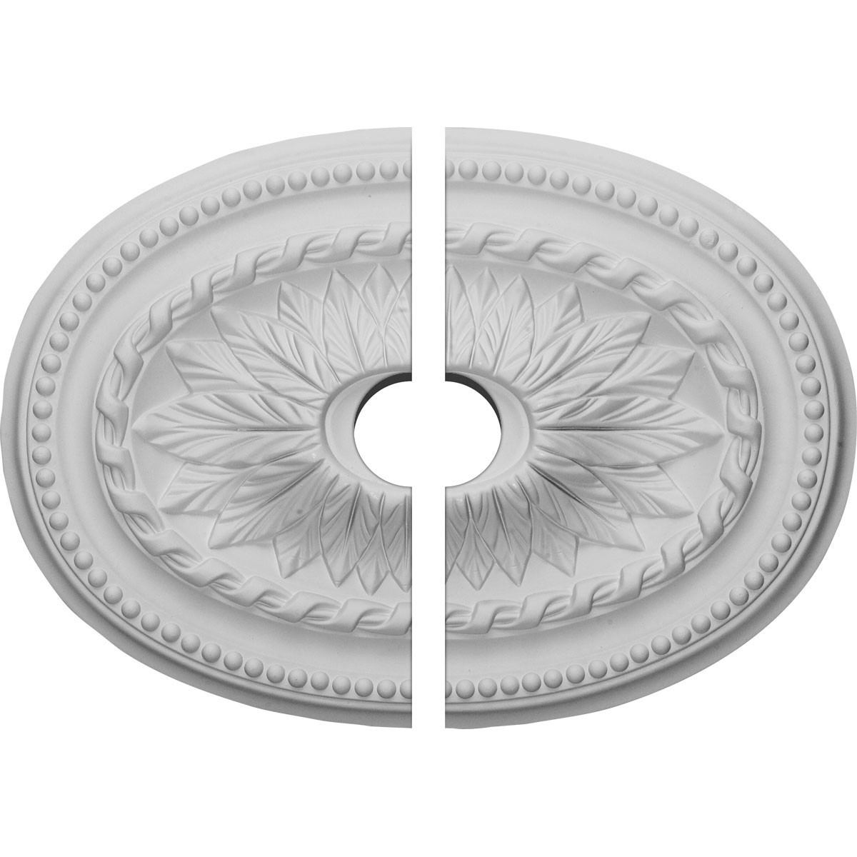"EM-CM18SA2-03500 - 18 1/2""W x 13 1/2""H x 3 1/2""ID x 1 7/8""P Saverne Ceiling Medallion, Two Piece (Fits Canopies up to 3 1/2"")"