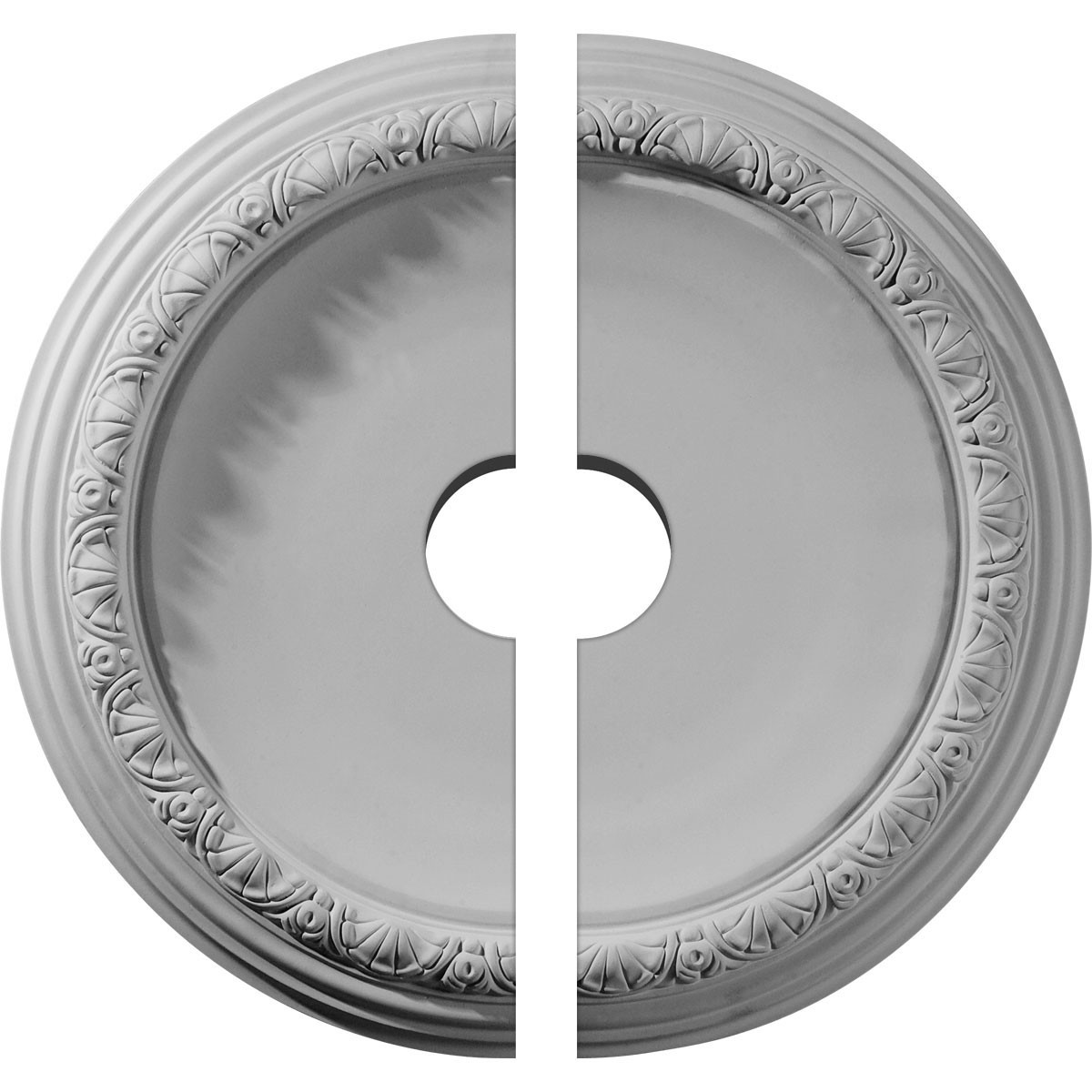 """EM-CM19CA2-03500 - 19 1/2""""OD x 3 1/2""""ID x 1 3/4""""P Carlsbad Ceiling Medallion, Two Piece (Fits Canopies up to 14 1/4"""")"""