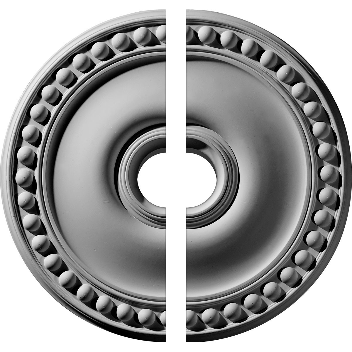 """EM-CM19FO2-03500 - 19 1/8""""OD x 3 1/2""""ID x 1""""P Foster Ceiling Medallion, Two Piece (Fits Canopies up to 5 5/8"""")"""