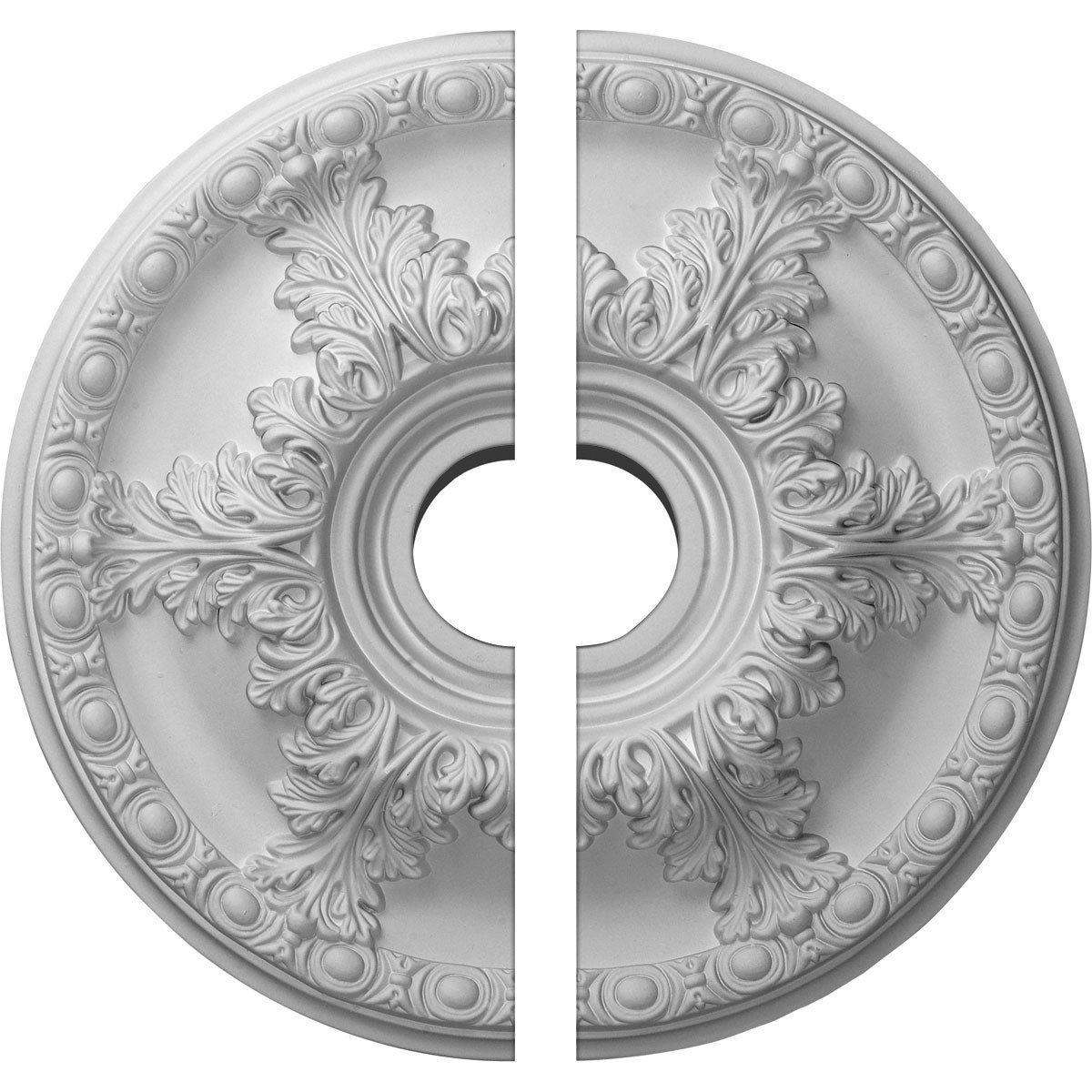"EM-CM19GA2-03500 - 19""OD x 3 1/2""ID x 1 1/2""P Granada Ceiling Medallion, Two Piece (Fits Canopies up to 7 1/8"")"
