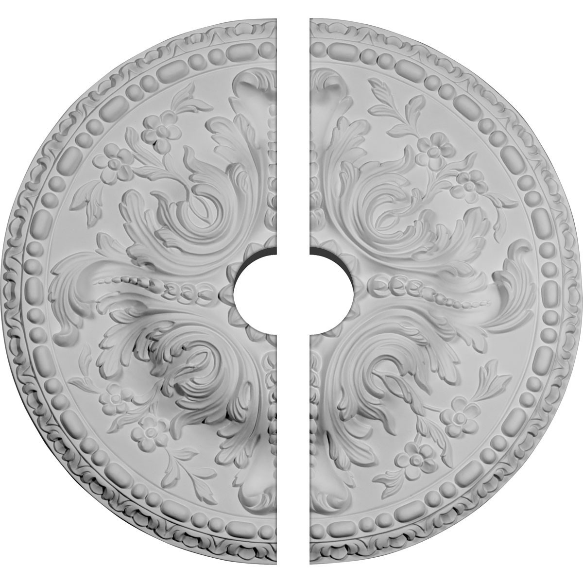 "EM-CM20AM2-03500 - 19 5/8""OD x 3 1/2""ID x 3/4""P Amelia Ceiling Medallion, Two Piece (Fits Canopies up to 3 1/2"")"
