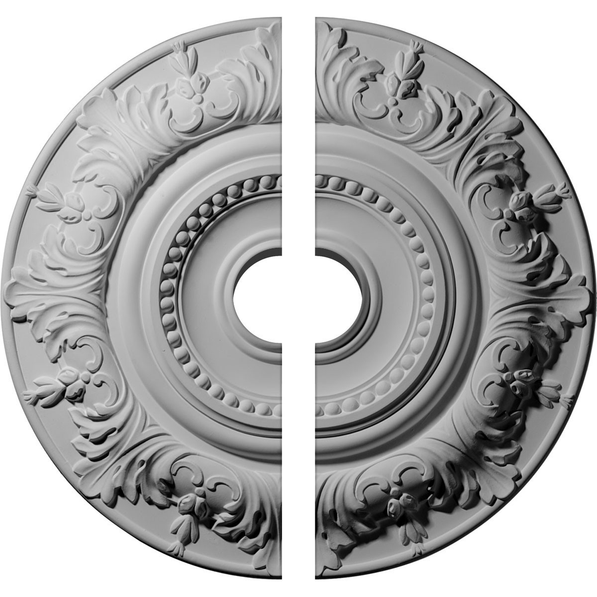 "EM-CM20BX2-03500 - 20 7/8""OD x 3 1/2""ID x 1 1/4""P Biddix Ceiling Medallion, Two Piece (Fits Canopies up to 7 1/2"")"