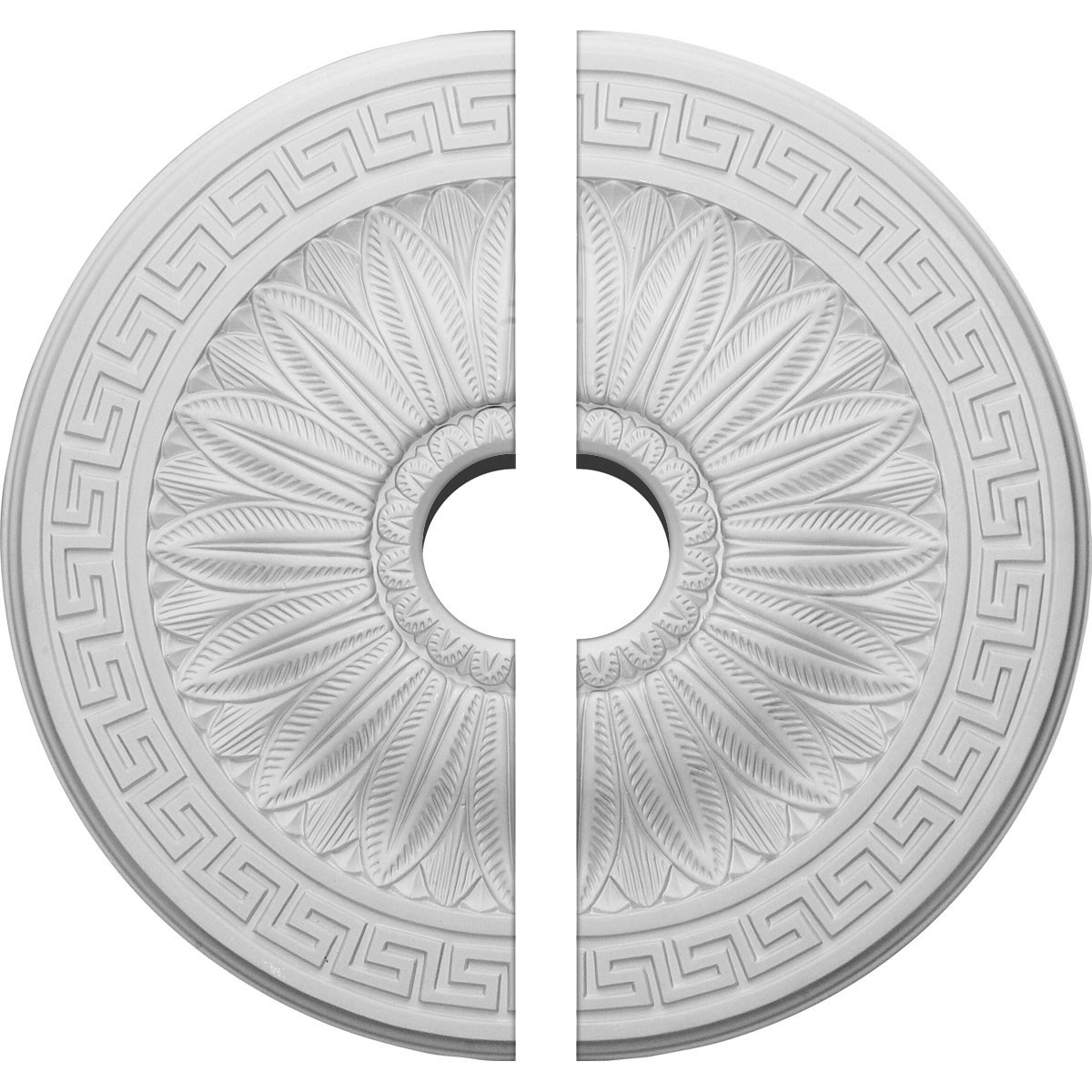 "EM-CM20HA2-03500 - 20""OD x 3 1/2""ID x 1 3/8""P Randee Ceiling Medallion, Two Piece (Fits Canopies up to 3 7/8"")"