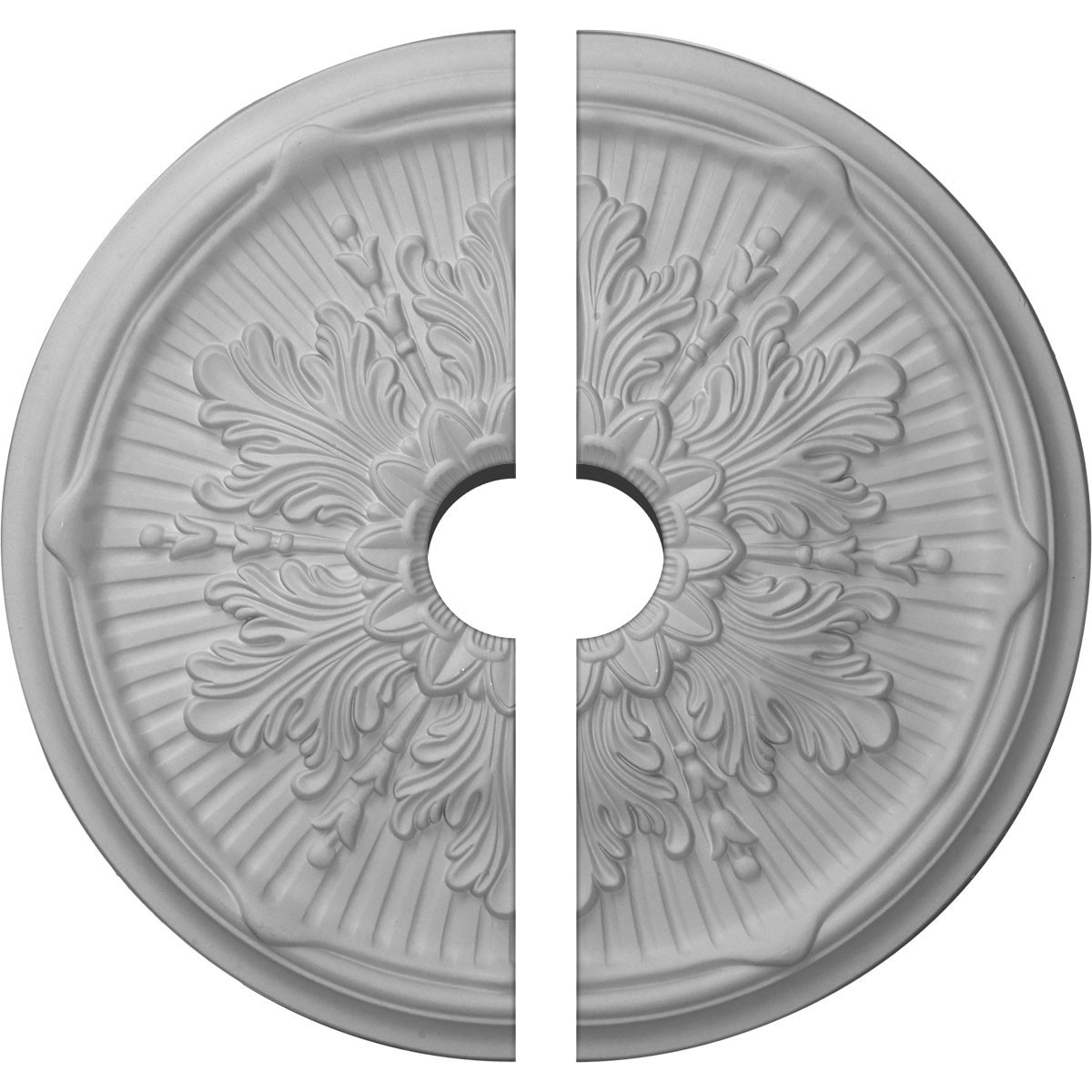"""EM-CM21LU2-03500 - 21""""OD x 3 1/2""""ID x 2""""P Luton Ceiling Medallion, Two Piece (Fits Canopies up to 3 1/2"""")"""